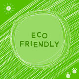 Funny card background. Eco friendly and nature theme. Stock Images
