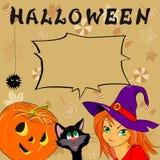 Funny card with Halloween Stock Photos