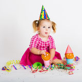 Funny carnival kid Royalty Free Stock Photography