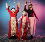 Funny carnival portrait Royalty Free Stock Photography