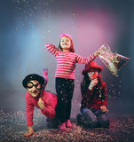 Funny carnival portrait Royalty Free Stock Images