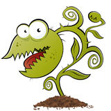 Funny carnivorous plant. Cartoon monster funny carnivorous plant vector illustration
