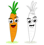 Funny carrot cartoon Stock Images
