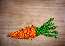 Funny carrot from pieces Royalty Free Stock Photography