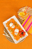 Funny carrot salad Stock Images