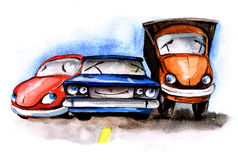 Funny cars Royalty Free Stock Images