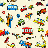 Funny Cars. kids seamless pattern texture. Stock Photos