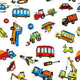 Funny Cars. kids seamless pattern texture. Stock Image