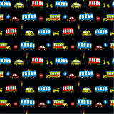Funny Cars. kids seamless pattern texture. Vector Royalty Free Stock Image