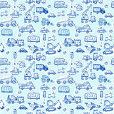 Funny Cars. kids seamless pattern texture. Vector Stock Photos