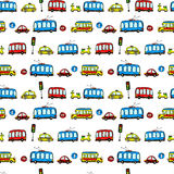 Funny Cars. kids seamless pattern texture. Royalty Free Stock Images