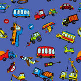 Funny Cars. kids seamless pattern texture. Vector illustration Royalty Free Stock Image