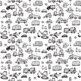 Funny Cars. kids seamless pattern texture. Royalty Free Stock Image