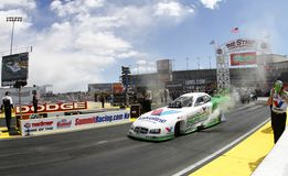 Funny Cars at the Strip in Las Vegas Stock Photos