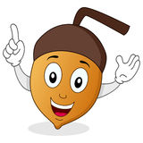 Funny Cartoon Acorn Character Stock Photography