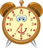 Funny cartoon alarm clock Royalty Free Stock Images