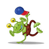 Funny cartoon alien  break dancer Stock Image