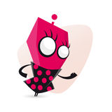 Funny cartoon alien girl Royalty Free Stock Images