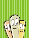 Funny cartoon aliens head. On green background. Vector illustration vector illustration