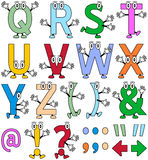 Funny Cartoon Alphabet [2] stock illustration