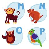 Funny cartoon alphabet Stock Photography