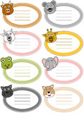 Funny Cartoon Animal Labels [4] Stock Image
