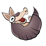 Funny cartoon armadillo Royalty Free Stock Image