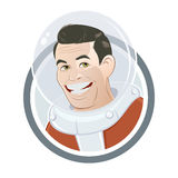 Funny cartoon astronaut Royalty Free Stock Photos