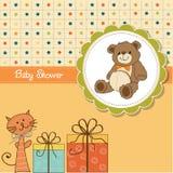 Funny cartoon baby shower card Royalty Free Stock Photo