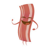 Funny cartoon bacon Stock Photo