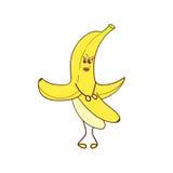 Funny cartoon banana. Stock Images
