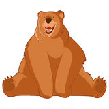 Funny Cartoon Bear Royalty Free Stock Images