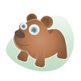 Funny cartoon bear Royalty Free Stock Image