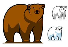 Funny cartoon bear mascot Stock Images