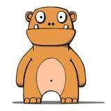 Funny cartoon bear monster. Vector illustration. Vector illustration of a funny cartoon bear Stock Images