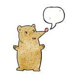 Funny cartoon bear with speech bubble Royalty Free Stock Photo