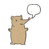Funny cartoon bear with speech bubble Royalty Free Stock Photos