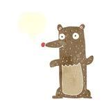 Funny cartoon bear with speech bubble Stock Photography