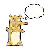 Funny cartoon bear with thought bubble Royalty Free Stock Photography