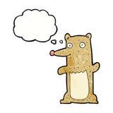 Funny cartoon bear with thought bubble Stock Photo
