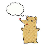 Funny cartoon bear with thought bubble Royalty Free Stock Photos