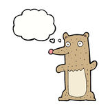 Funny cartoon bear with thought bubble Royalty Free Stock Images