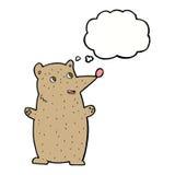 Funny cartoon bear with thought bubble Stock Photos