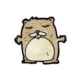 funny cartoon beaver Stock Photo