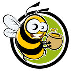 Funny cartoon bee Royalty Free Stock Photo