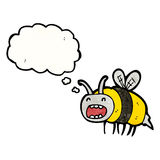 Funny cartoon bee Stock Photos