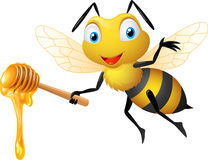 Funny cartoon bee Royalty Free Stock Photo