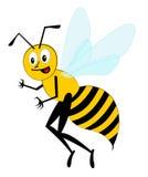 Funny cartoon bee (vector). Smiling funny cartoon character bee (vector stock illustration
