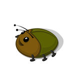 Funny cartoon beetle  illustration.. Funny cartoon beetle isolated on white background  illustration. Zoo Animal and insect concept Royalty Free Stock Photos