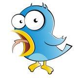 Funny cartoon bird Stock Photos